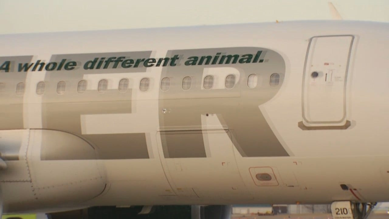 WEB EXTRA: Video Of Frontier Airlines First Flight From Tulsa To Denver