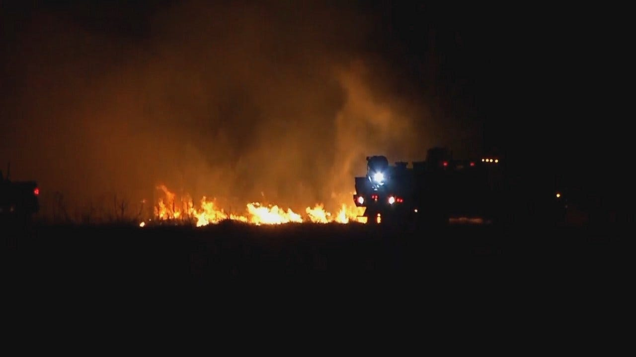 WEB EXTRA: Video From Fires West Of Ochelata