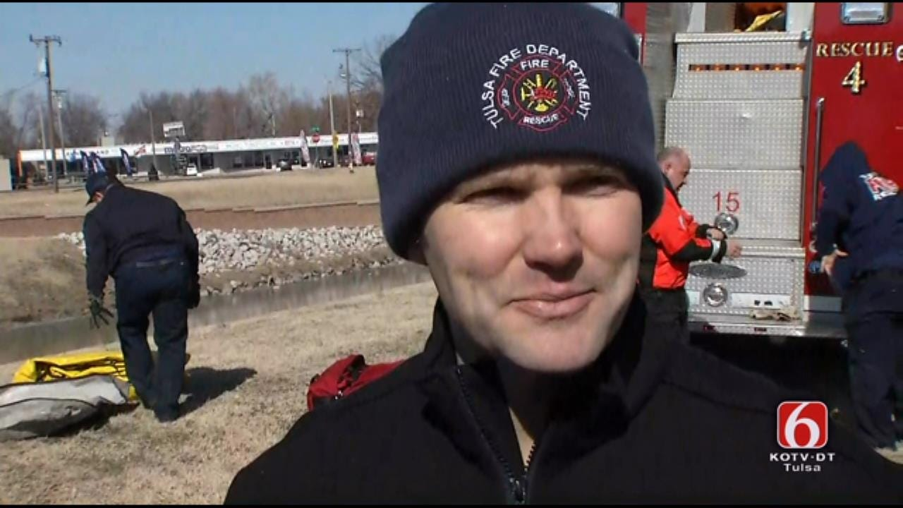 WEB EXTRA: Tulsa Fire Captain On Dog Rescue