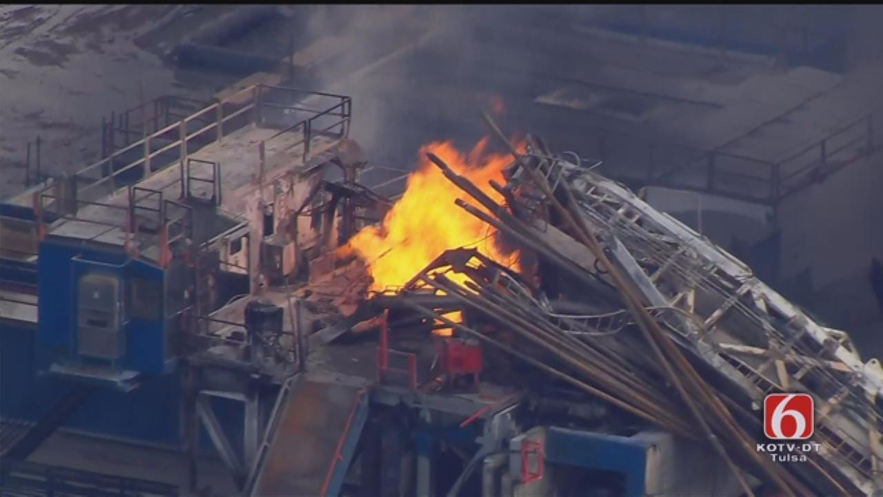 Osage SkyNews 6 HD Pilot Describes Oil Well Explosion In Pittsburg County