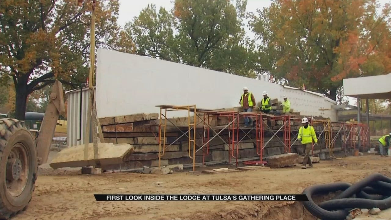 Tulsa's Gathering Place Lodge Closer To Completion