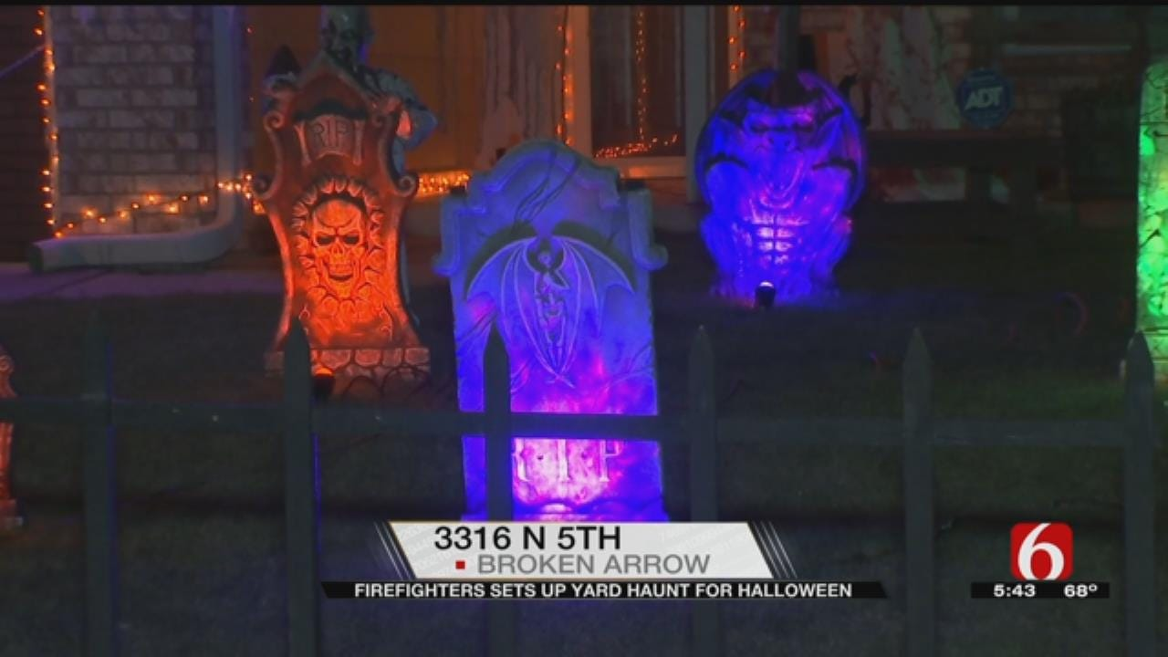 Tulsa Firefighter Gives Out Candy, Scares For Good Cause