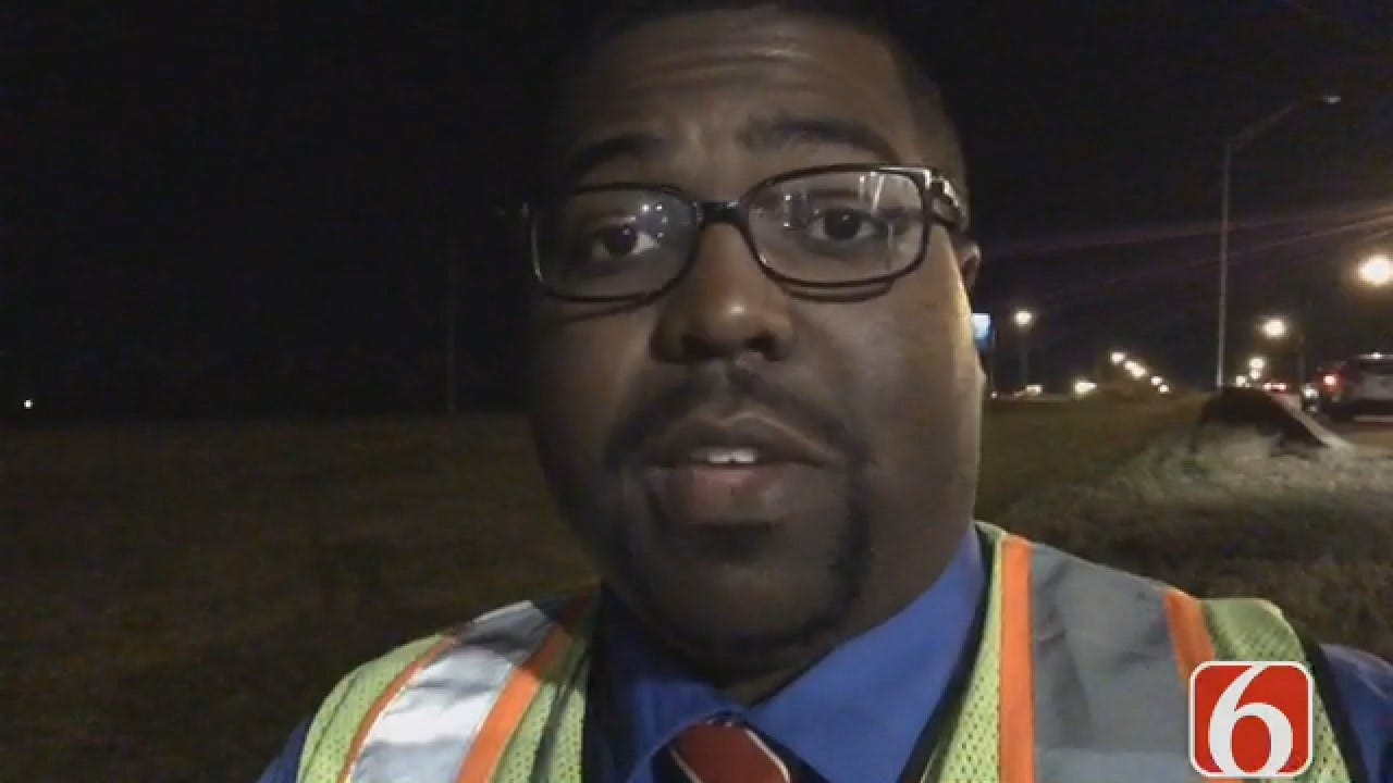 Joseph Holloway Says Man Has Been On The Sign For Over 12 Hours