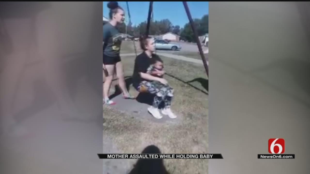 Oklahoma Mother Assaulted While Holding Infant Son
