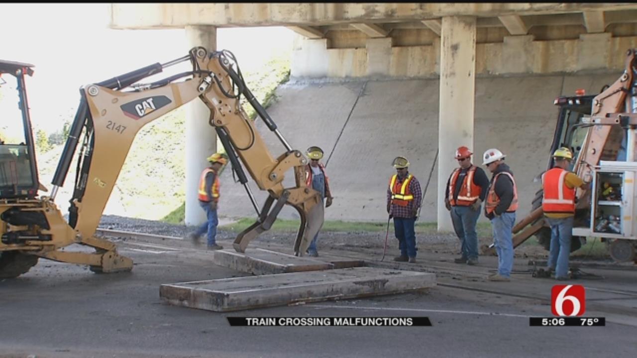 Railroad Malfunction Causes Safety Hazard At Tulsa Train Crossing