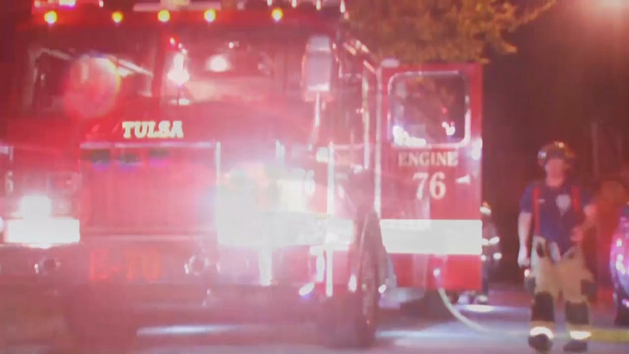 WEB EXTRA: Video From Scene Of Tulsa Shed Fire
