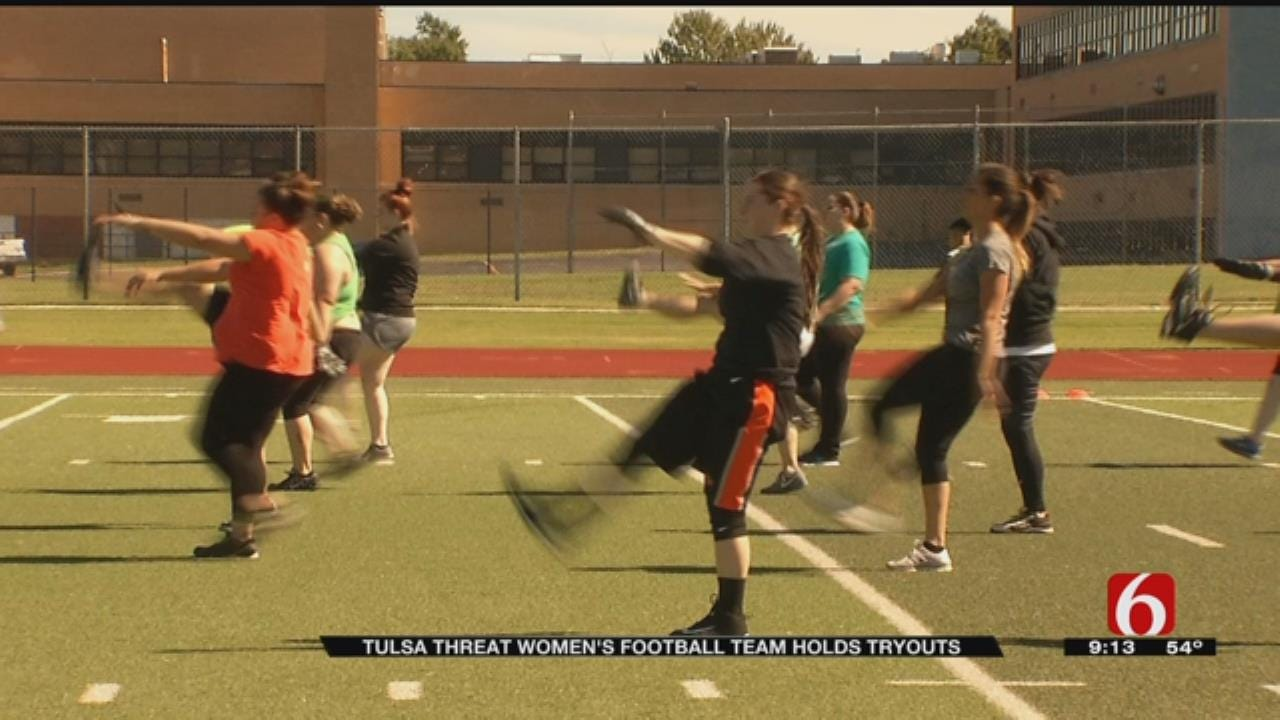 Tryouts Held For Tulsa Female Football Team