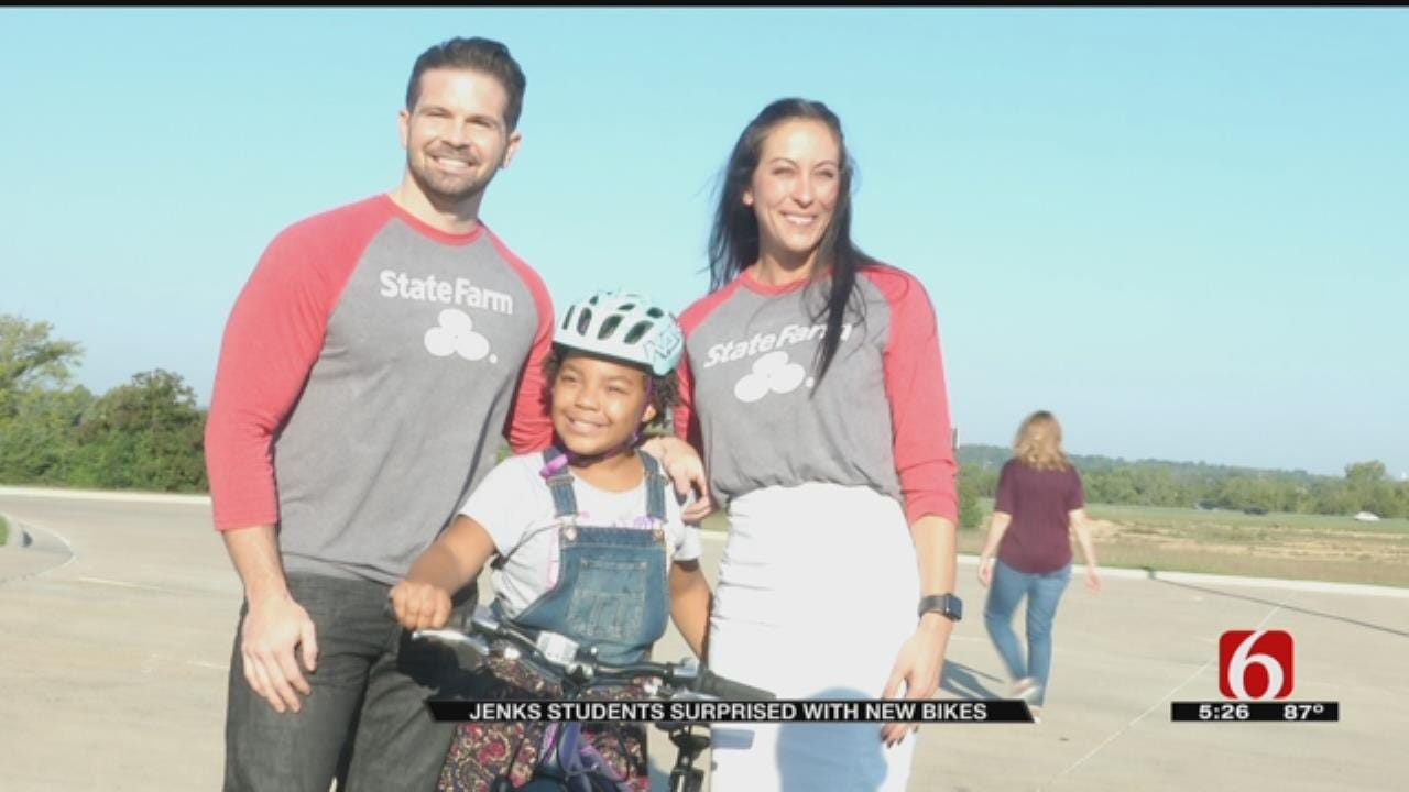 2 Jenks Elementary Students Earn New Bicycles