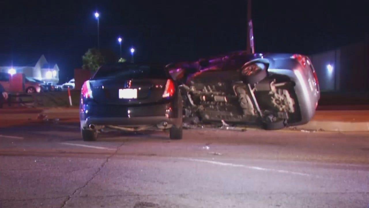 WEB EXTRA: Video From Scene Of Tulsa Highway Crash