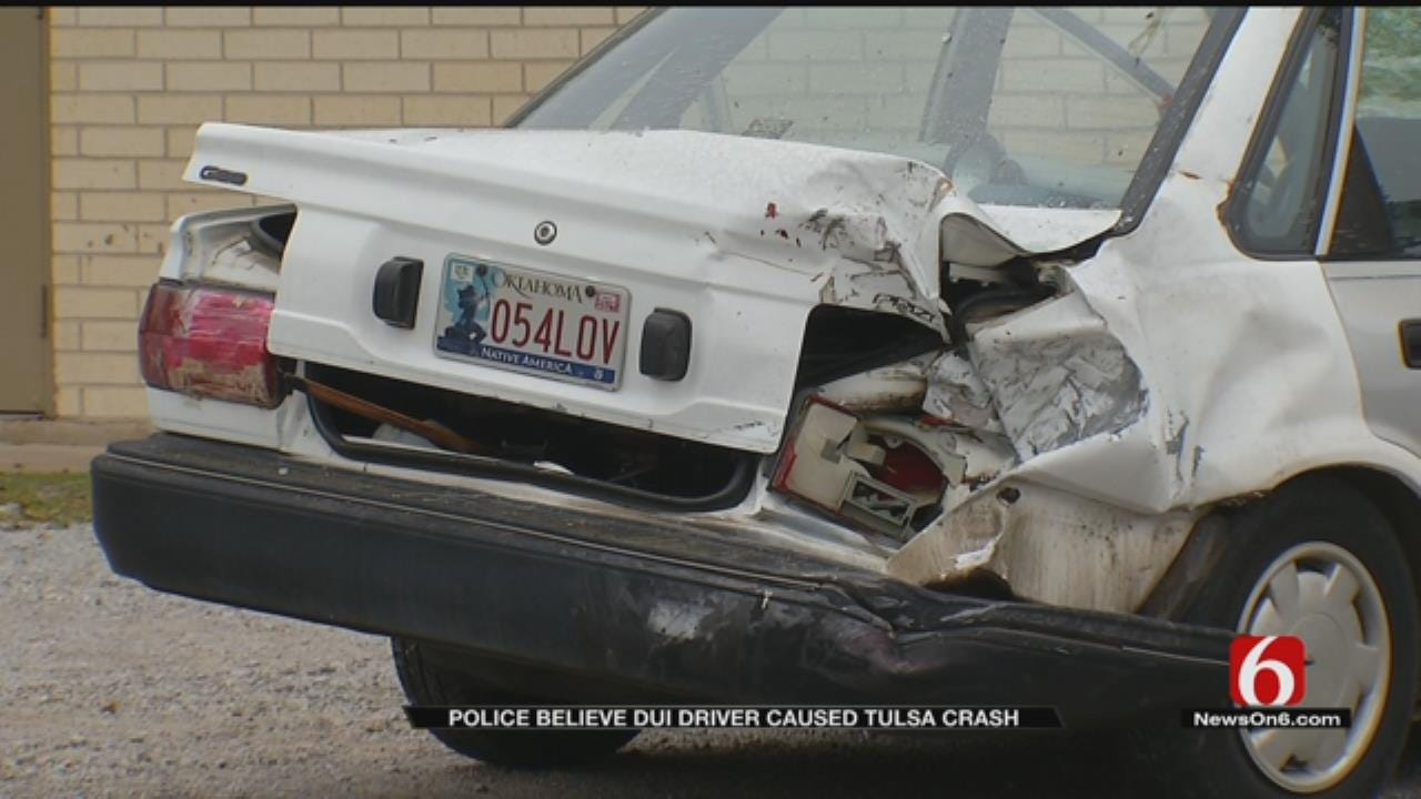 TPD: Driver Suspected Of DUI Rear-Ends Vehicle Which Crashes Into Building