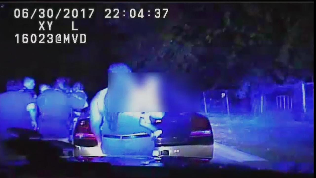 Dash-Cam Footage Shows Tulsa Sergeant Punch Officer In Face