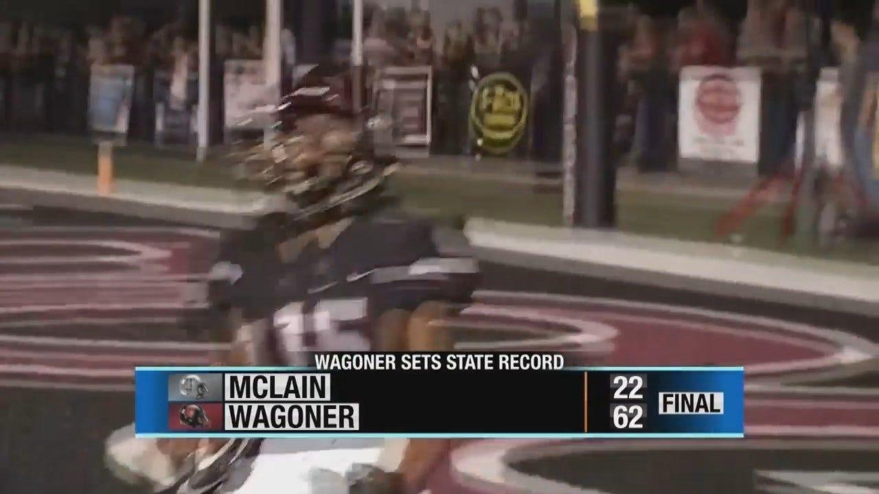 Wagoner Overtakes McLain 66-22