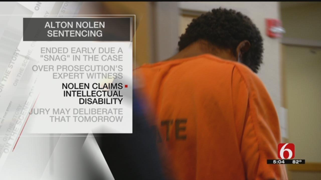 Nolen Sentencing Experiences 'Snag'