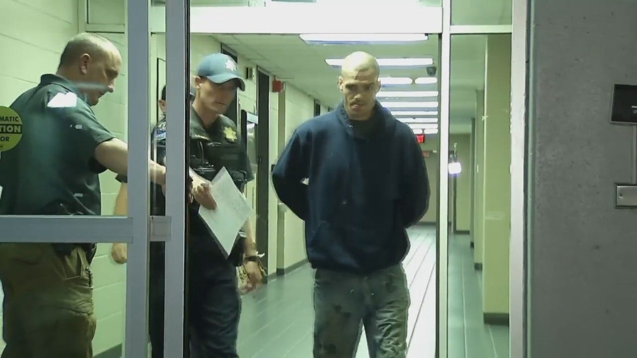 WEB EXTRA: Video Of Dallas Woods At The Tulsa Police Department