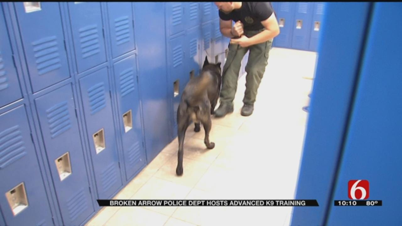 Oklahoma K9 Teams Get Special Narcotics, Explosives Training