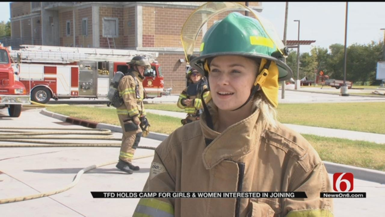 Tulsa Fire Fighters Host Camp For Girls Interested In Field