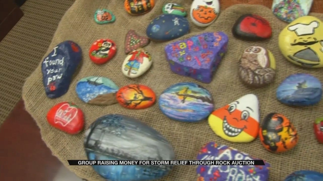Unique Rocks Raise Money For Hurricane Relief