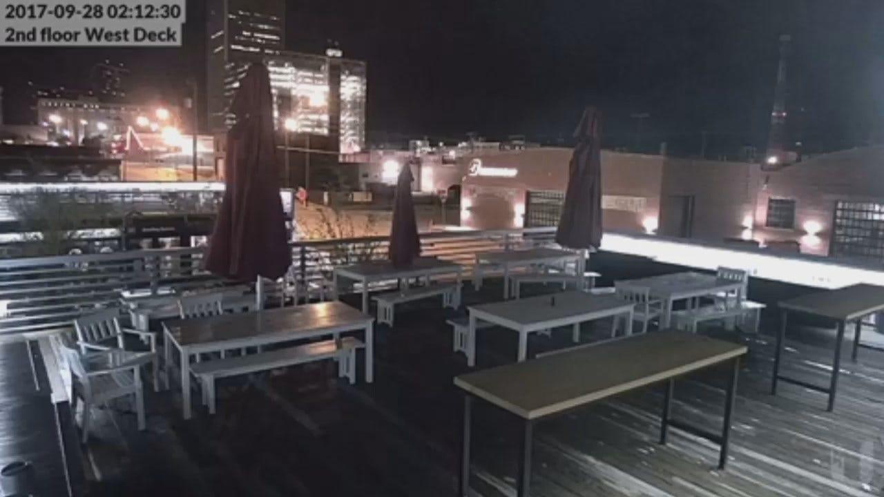 WEB EXTRA: Surveillance Video From Tulsa's The Boxyard
