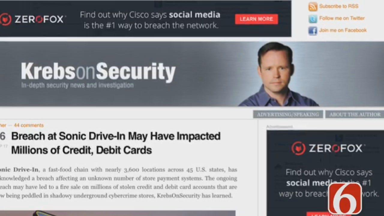 Dave Davis Reports On Sonic Restaurant Security Breach