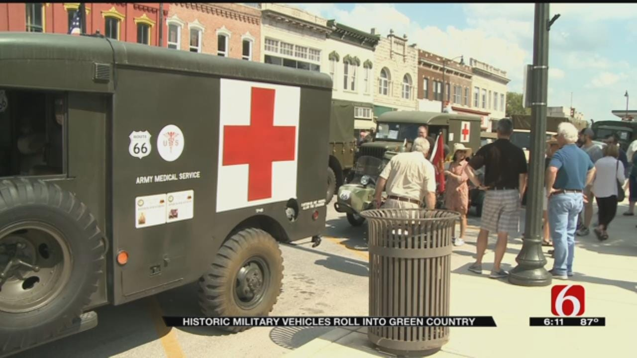 Historic Military Convoy Makes Its Way Through Oklahoma
