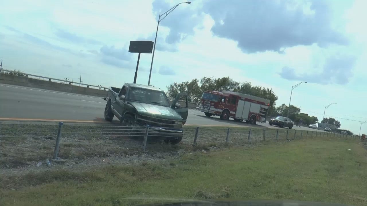 WEB EXTRA: Video From Scene Of Sand Springs Highway Crash