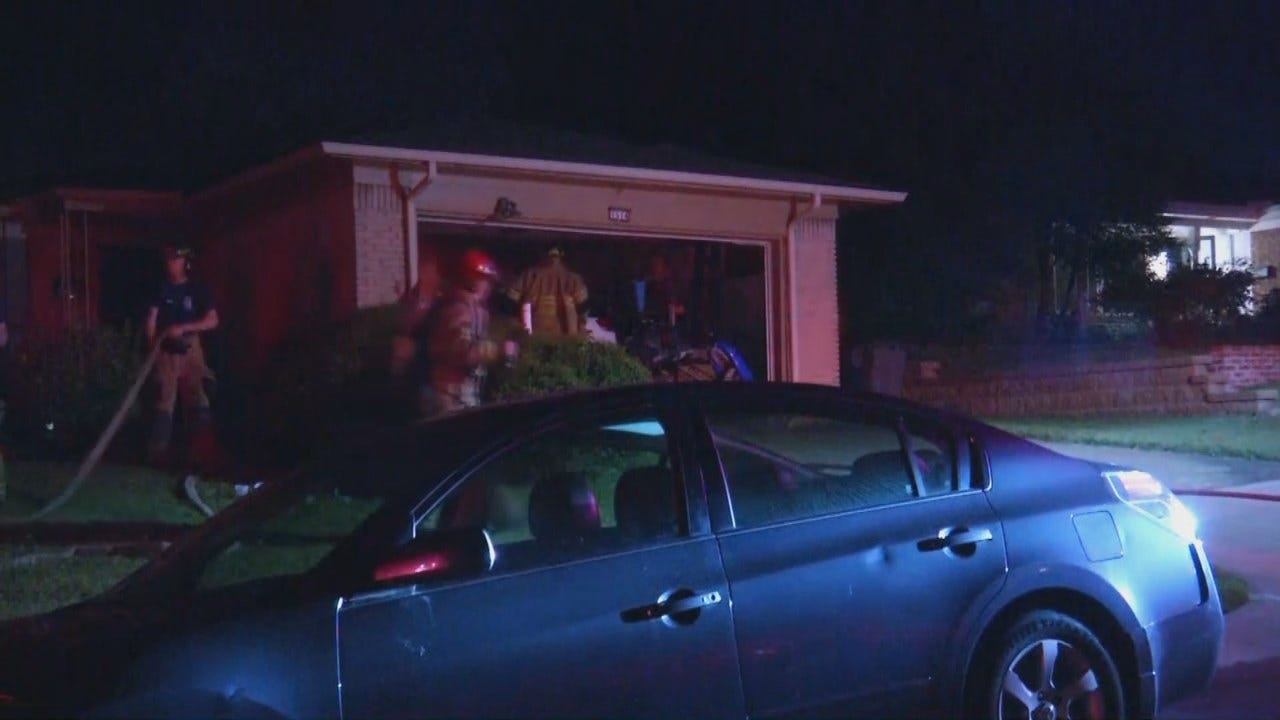 WEB EXTRA: Video From Scene Of Tulsa House Fire