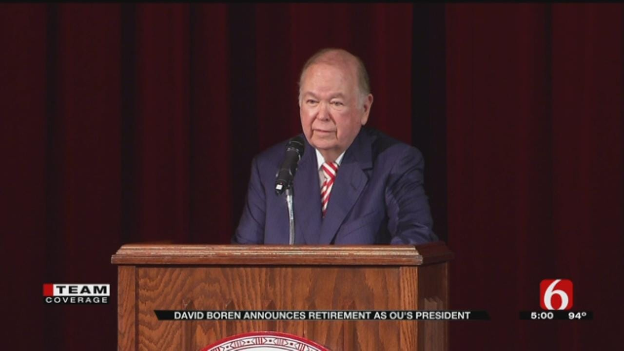 David Boren: The Right Time Has Come For Retirement From OU