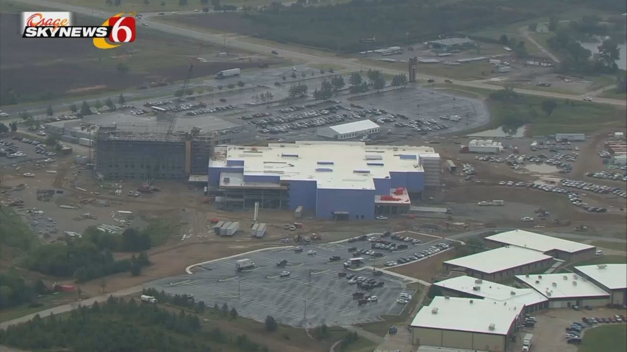 Osage SkyNews 6 HD Flies Over Casino Topping Off Ceremony