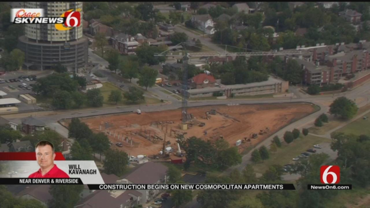 Cosmopolitan Apartments Going Up Near Tulsa's Gathering Place