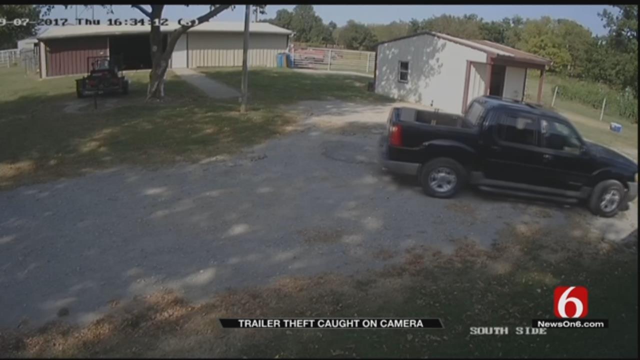 Broken Arrow Man's Mower, Trailer Stolen From Front Yard