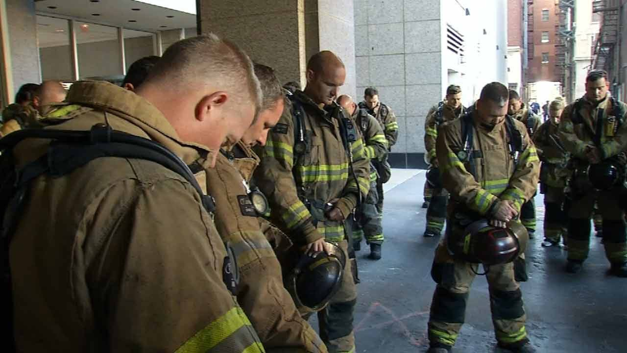Tulsa First Responders Climb To Honor Fallen 9/11 Emergency Workers