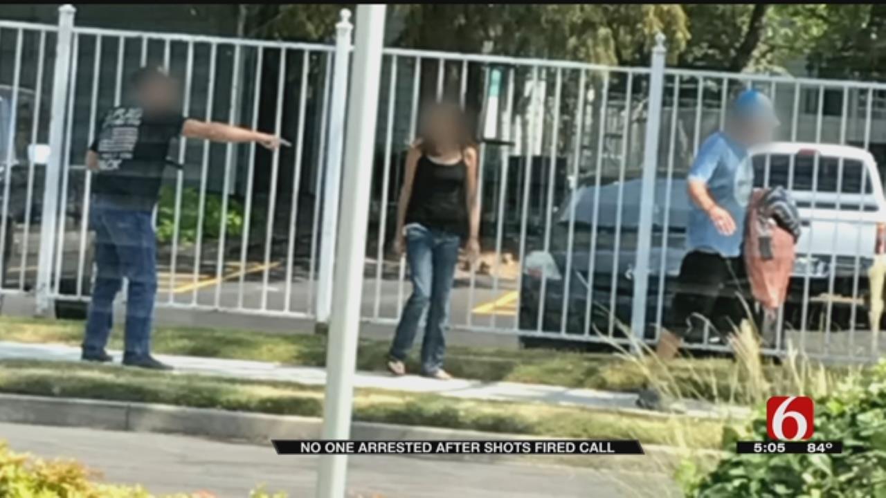 Man Fires Gun Into Ground Outside Tulsa Apartment