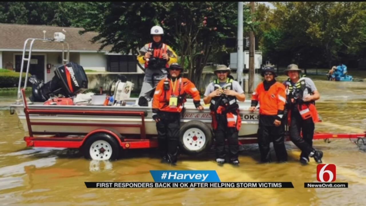 Oklahomans Return Home After Helping In Hurricane Harvey