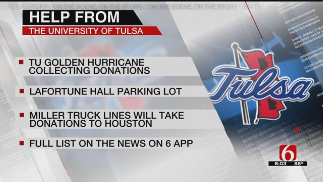 TU Helps Victims Of Harvey
