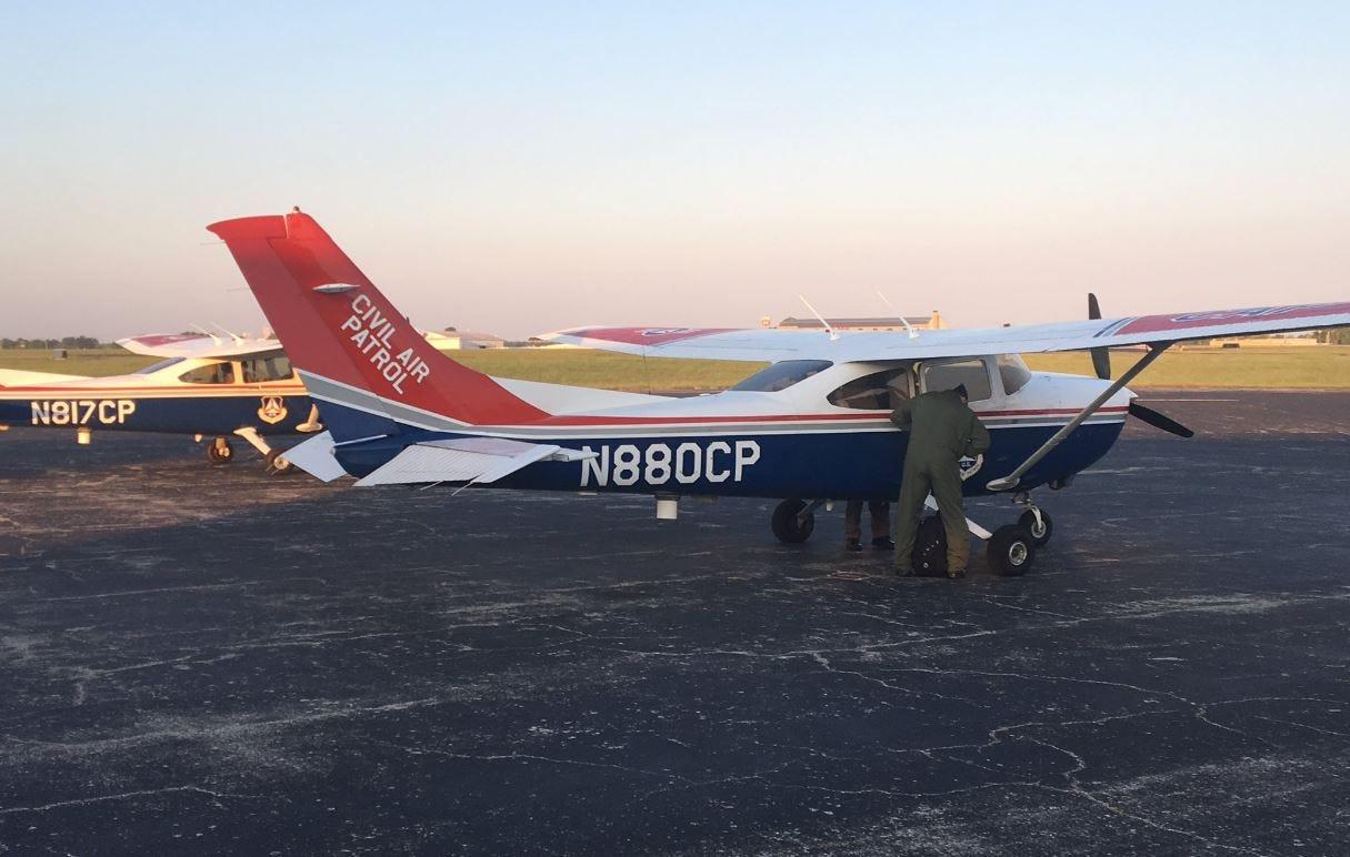 Oklahoma Wing Of 'Civil Air Patrol' Heads To Houston