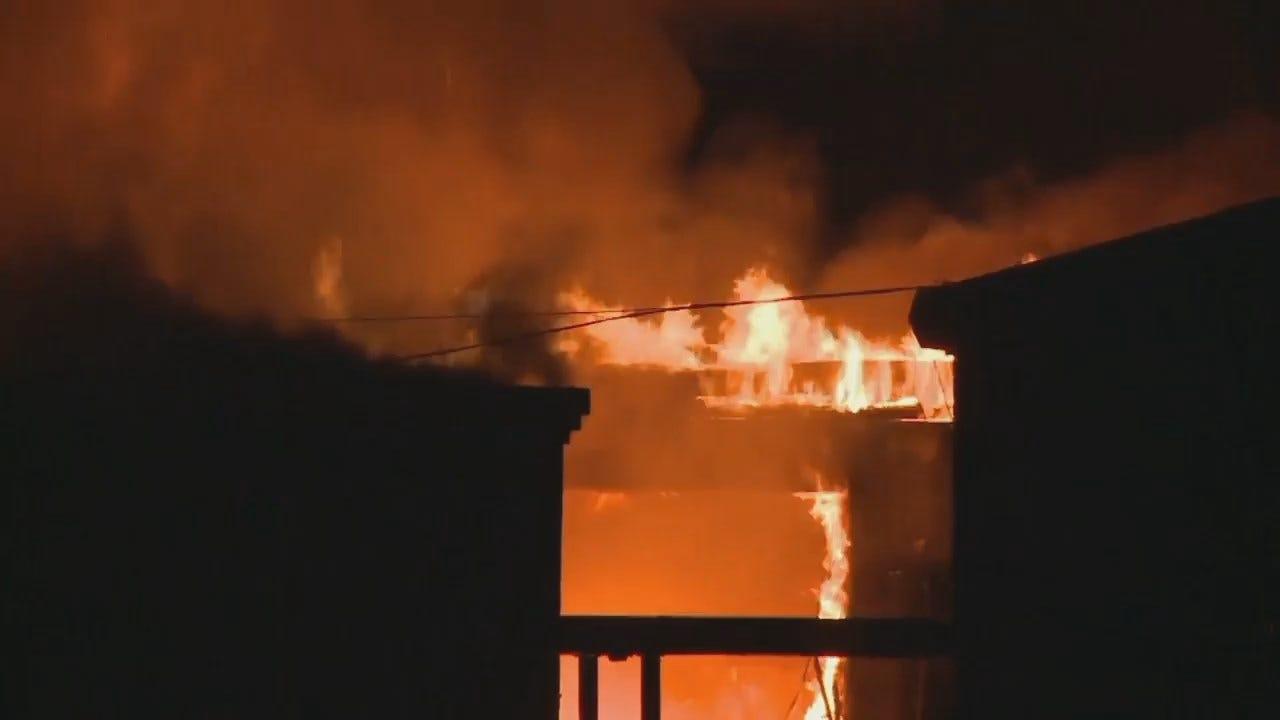 WEB EXTRA: KFSM Video Of Cameron High School Building Fire