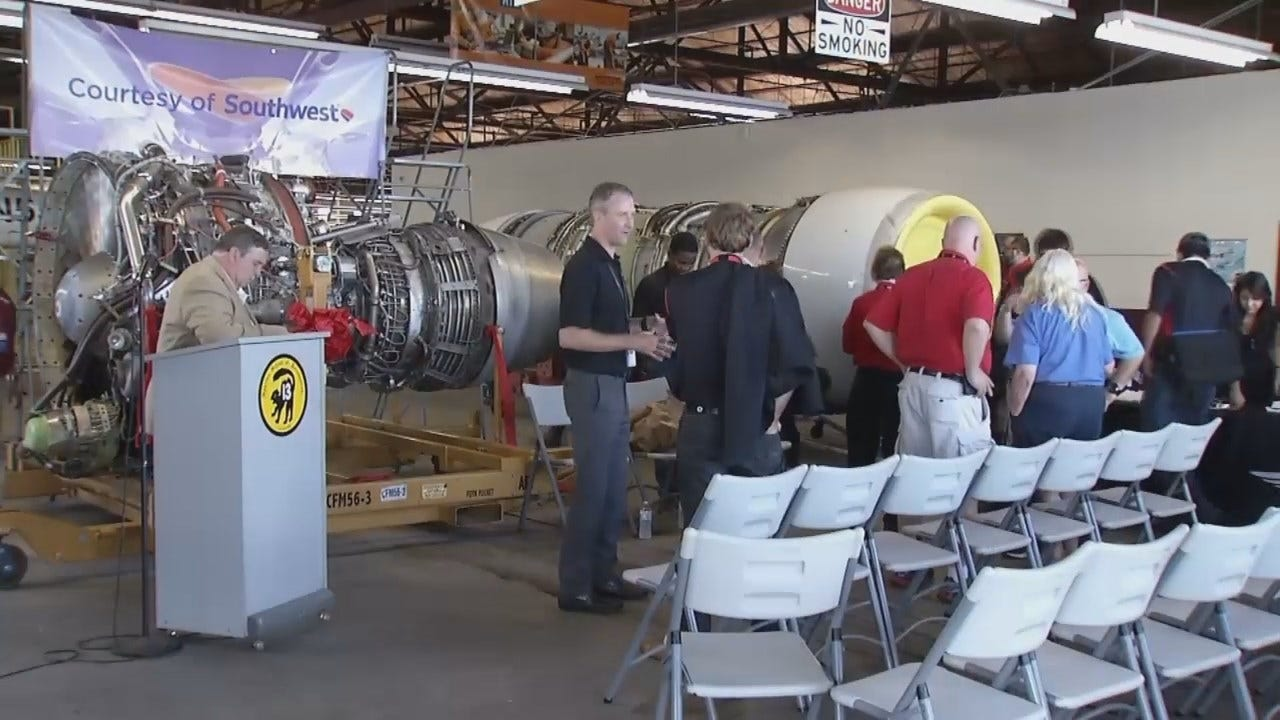 WEB EXTRA: Southwest Airlines Gives A Tulsa School A Big Gift