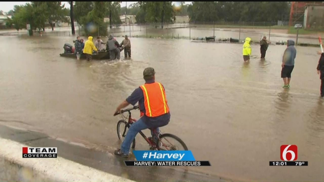 Need For Water Rescues Increases Following Hurricane Harvey
