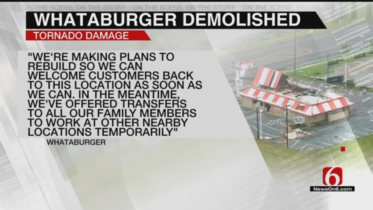 Tulsa Whataburger Demolished, Rebuilding After Harsh Storms