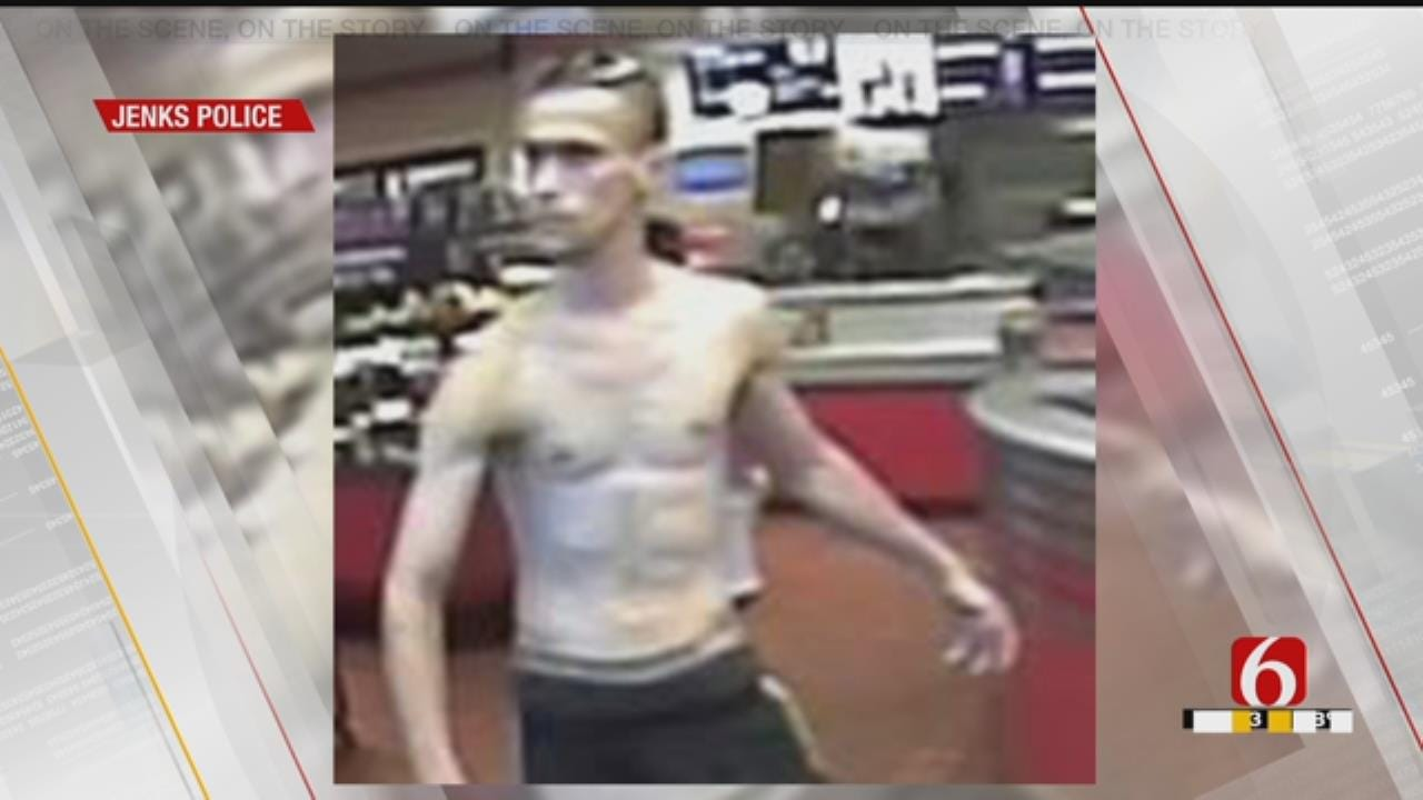 Jenks Police Release Photos Of Man Sought In Credit Card Fraud