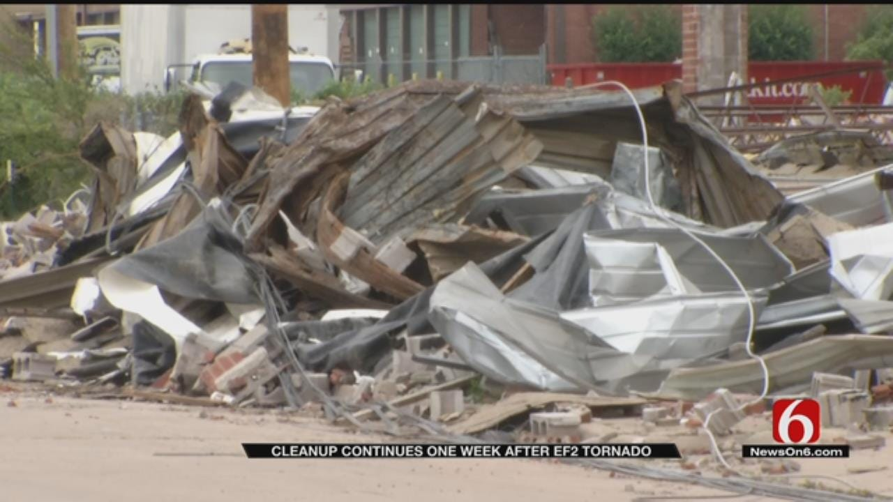Tulsa Continues Cleanup One Week After EF2 Tornado