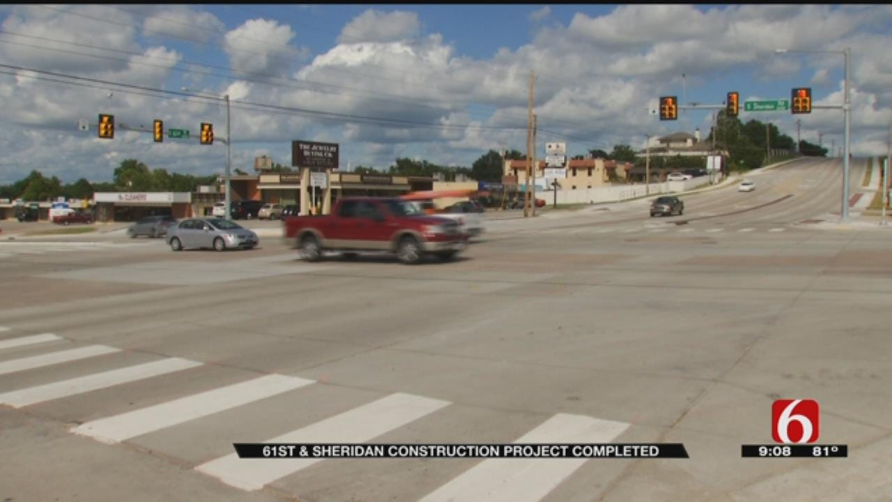 Tulsa Businesses Relieved Road Work At 61st And Sheridan Done