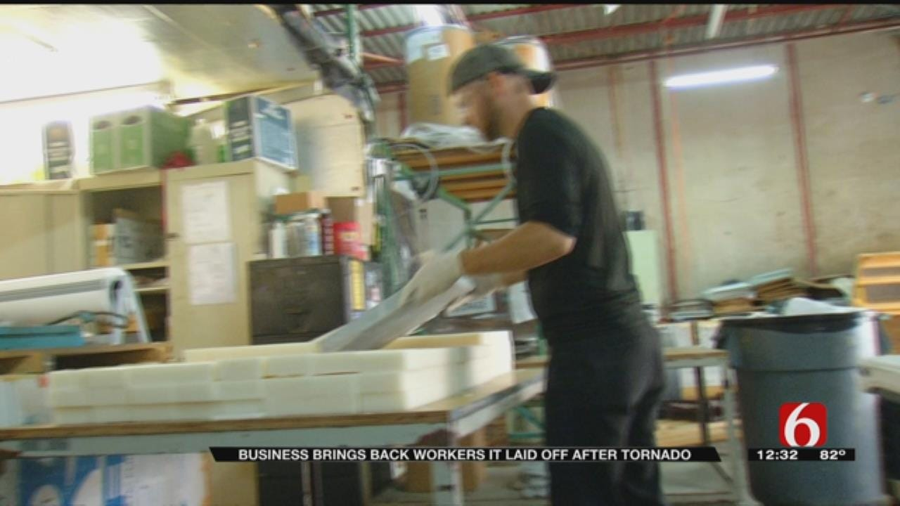 Tulsa Business Puts Employees Back To Work After Tornado
