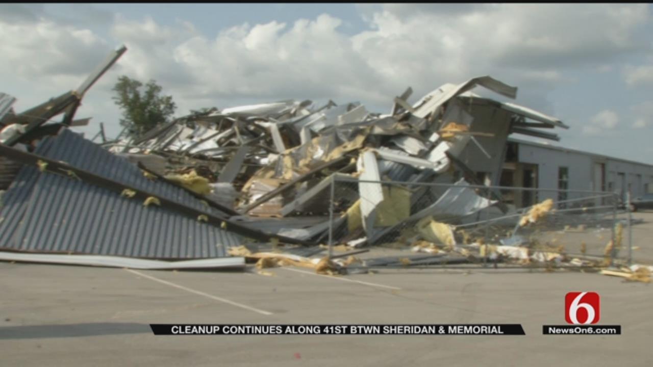 Tulsa Companies Continue Clean Up Efforts After EF2 Tornado
