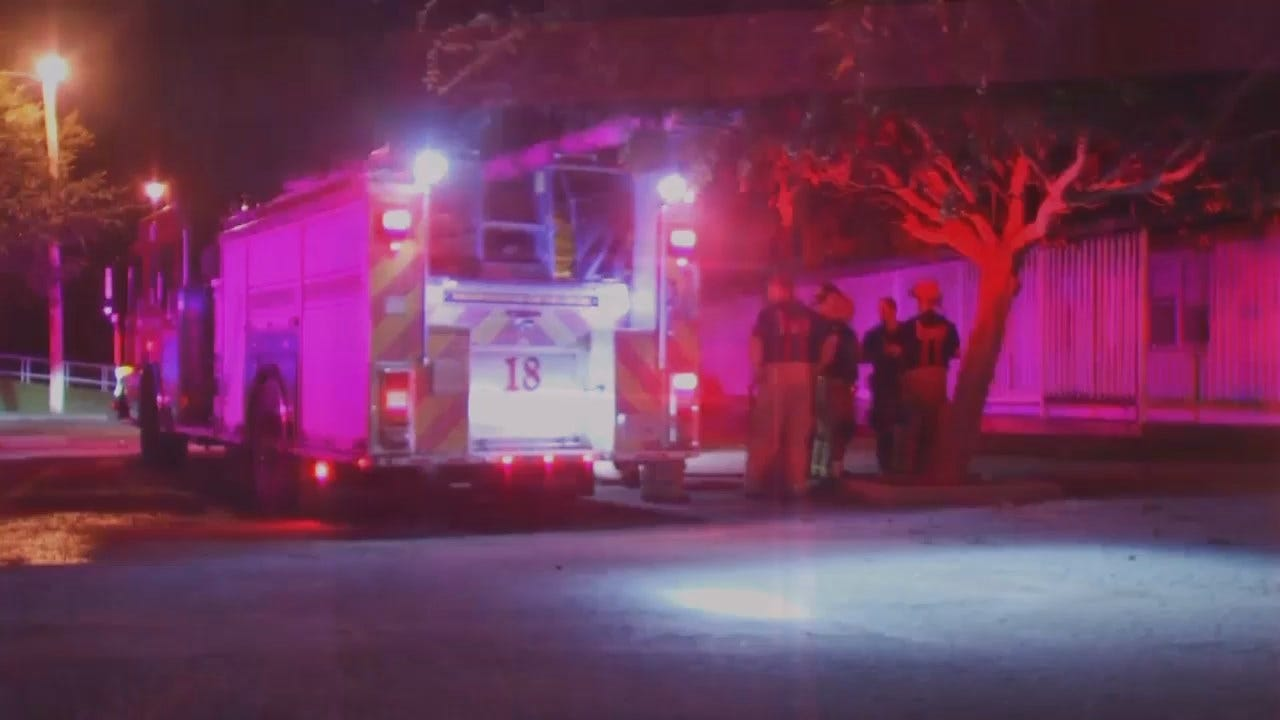 WEB EXTRA: Video From Scene Of Former Tulsa Church Building Fire