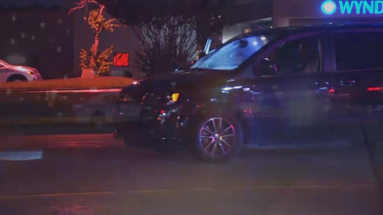 WEB EXTRA: Video From Scene Of Tulsa Man Struck Crossing Street