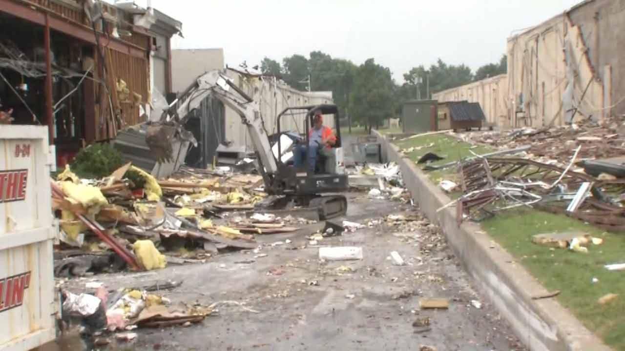 Joseph Holloway: Restoration Crews Clean Debris Following Tulsa Tornadoes