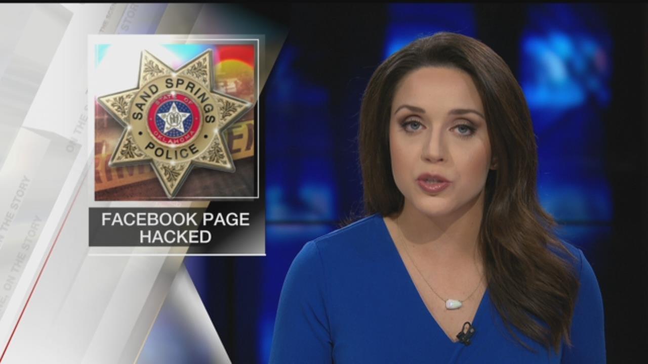 Sand Springs Police Department Facebook Hacked