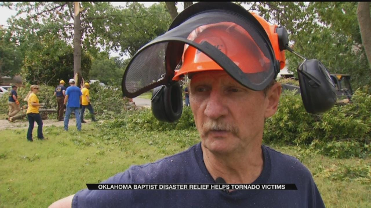 Religious Group Helps Clean Up Devastating Storm Damage In Tulsa