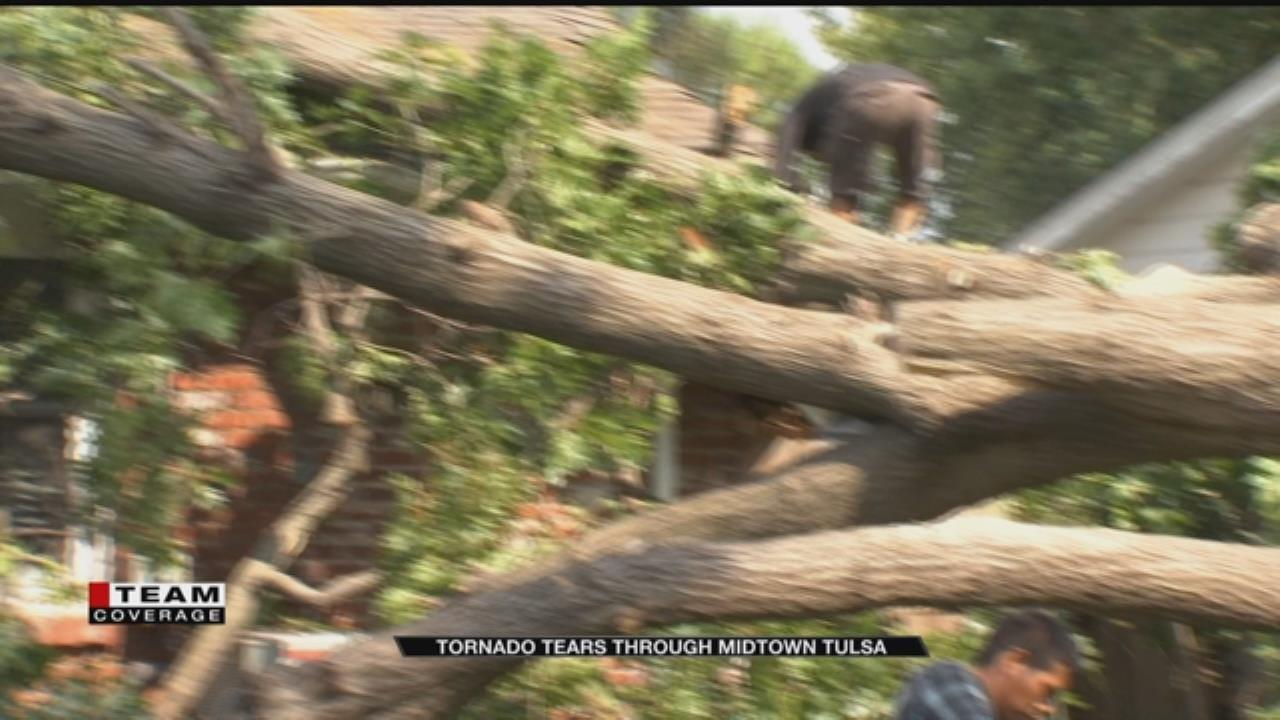 Storm, Tornado Leaves 6-Mile Destruction Area In Tulsa